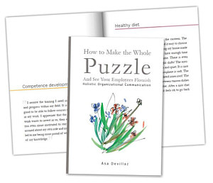 /Front and inside of the book How to make the whole puzzle and make your employees flourish